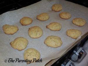 Baked Lavender Lemon Cake Mix Cookies