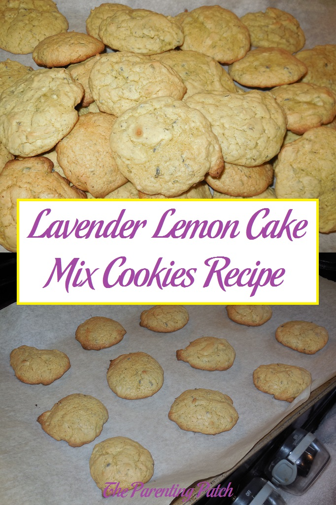 Lavender Lemon Cake Mix Cookies Recipe