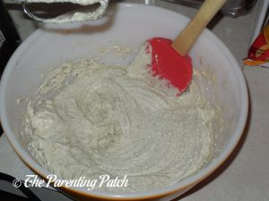 Creaming the Wet Ingredients for the Lavender Vanilla Cookies