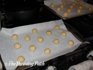 One-Inch Dough Balls for the Lavender Vanilla Cookies