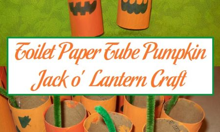 Toilet Paper Tube Pumpkin Jack o' Lantern Craft