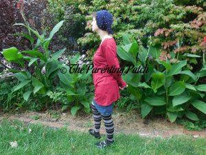Heather Wearing V-Neck Ruffled Long-Sleeve Draped-Shoulder Blouse Tunic Top 2