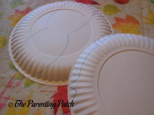 Drawing Ears and Wings for B Is for Bat Paper Plate Craft