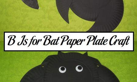 B Is for Bat Paper Plate Craft