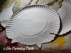 Assembled B Is for Bat Paper Plate Craft