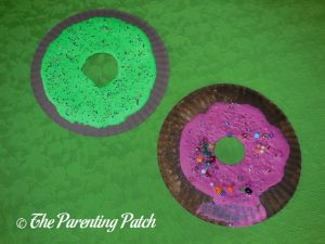 Finished D Is for Donut Paper Plate Craft