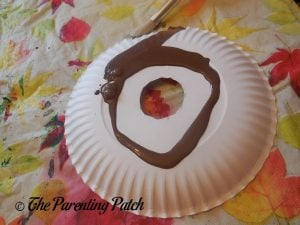 Painting the D Is for Donut Paper Plate Craft Brown 1