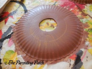 Brown Paper Plate for D Is for Donut Paper Plate Craft