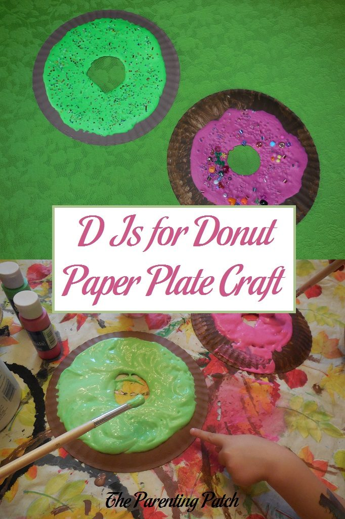 D Is for Donut Paper Plate Craft