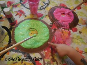 Icing the D Is for Donut Paper Plate Craft 1