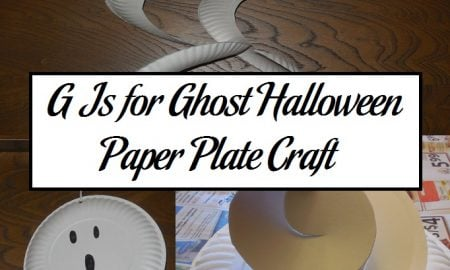 G Is for Ghost Halloween Paper Plate Craft