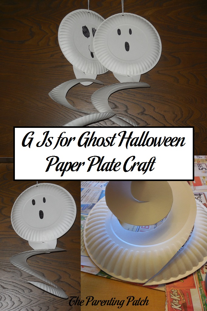 G Is For Ghost Halloween Paper Plate Craft Parenting Patch