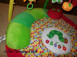 Caterpillar Pillow on The Very Hungry Caterpillar Activity Gym with Musical Mobile