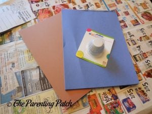 Materials for Torn Paper and Cupcake Liner Halloween Ghost Tree