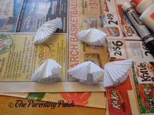 Smashing Cupcake Liners for Torn Paper and Cupcake Liner Halloween Ghost Tree