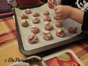 Icing the Apple Cider Cake Mix Cookies