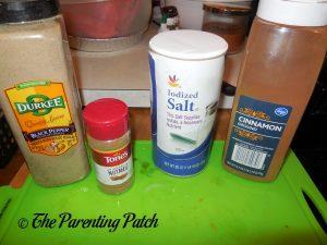 Spices for Coconut Milk Pumpkin Soup