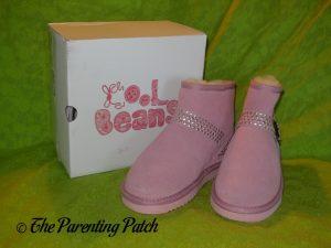 Cool Beans Pink Sheepskin Winter Boots 1