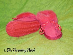 Cool Beans Red Sheepskin Winter Slipper Boots 3