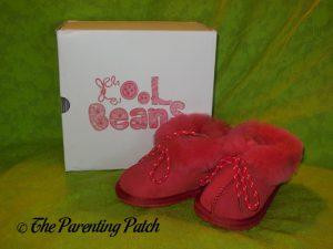 Cool Beans Red Sheepskin Winter Slipper Boots 1