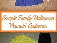 Simple Family Halloween 'Peanuts' Costumes