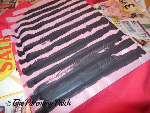 Painting Stripes on the Linus Van Pelt Costume