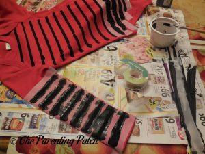 Painting More Stripes on the Linus Van Pelt Costume