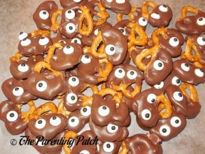 Chocolate Dipped Monster Pretzels