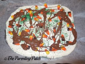 Drizzling Chocolate Over the Candy Corn