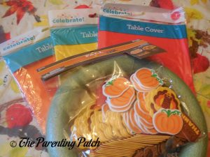 Supplies for Tablecloth Ribbon Thanksgiving Wreath Craft