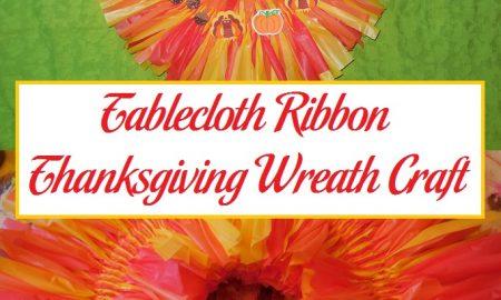 Tablecloth Ribbon Thanksgiving Wreath Craft