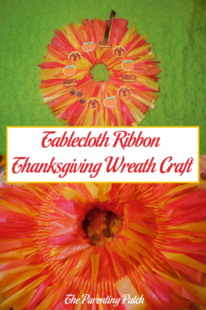 Tablecloth Ribbon Thanksgiving Wreath Craft