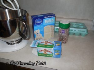 Ingredients for Christmas Sprinkle Cake Cookies