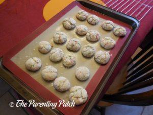 Baked Christmas Sprinkle Cake Cookies