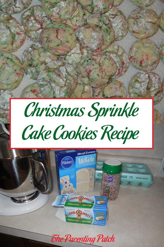 Christmas Sprinkle Cake Cookies Recipe