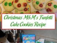 Christmas M&M's Funfetti Cake Cookies Recipe