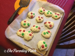 Baked Christmas M&M's Funfetti Cake Cookies