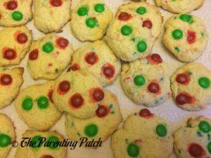 Christmas M&M's Funfetti Cake Cookies