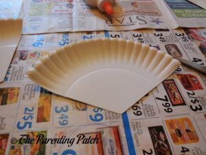 Paper Plate Third for Pumpkin Pie Paper Plate Craft