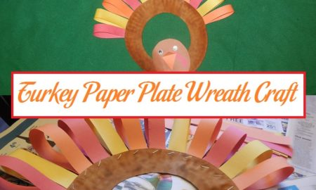 Turkey Paper Plate Wreath Craft