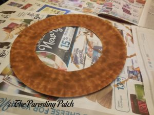 Brown Paper Plate Ring
