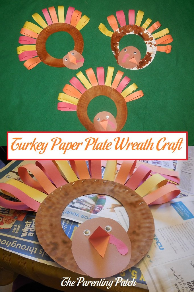 & Turkey Paper Plate Wreath Craft | Parenting Patch