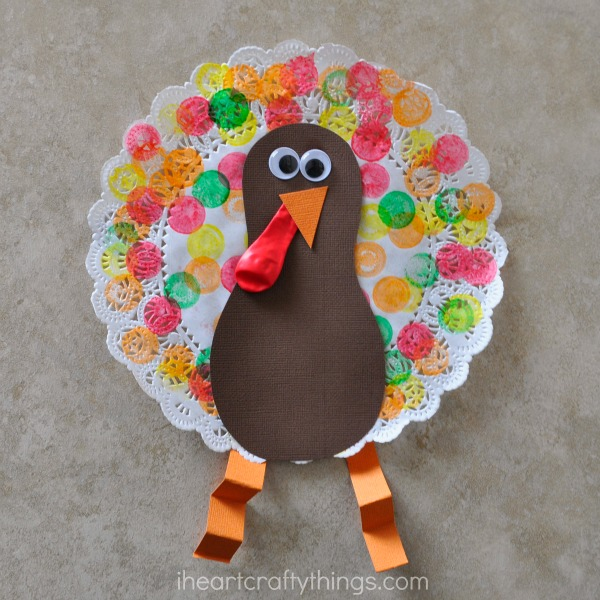 Turkey Feathers Cups Toddler Craft
