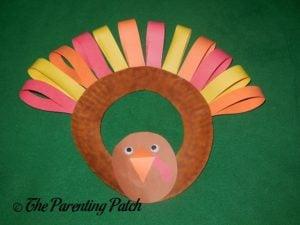 Turkey Paper Plate Wreath Craft
