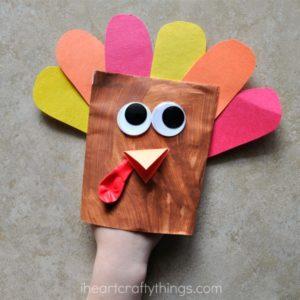 Envelope Turkey Puppet Craft