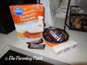 Ingredients for Almond Chocolate Chunk Pumpkin Cake Cookies