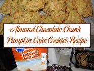 Almond Chocolate Chunk Pumpkin Cake Cookies Recipe