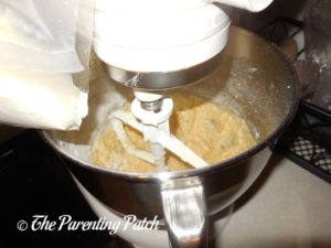 Mixing the Batter for the Almond Chocolate Chunk Pumpkin Cake Cookies