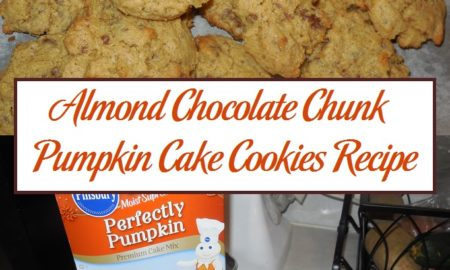 Almond Chocolate Chunk Pumpkin Cake Cookies Recipe