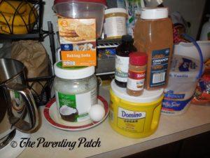 Ingredients for Dairy-Free Rolled Sugar Cookies